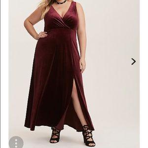 Torrid Merlot High Slit Maxi Dress